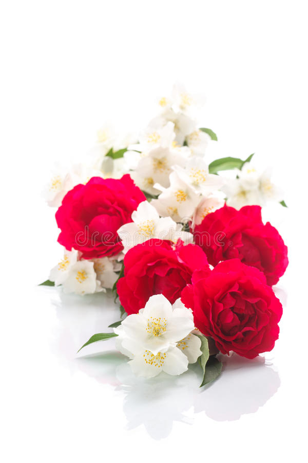 Bouquet Of Roses And Jasmine Stock Photo Image of