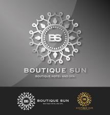 Boutique Hotel And Spa Logo Design Stock Vector
