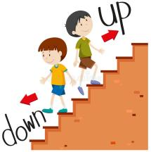 Up and Down Stairs Cartoon