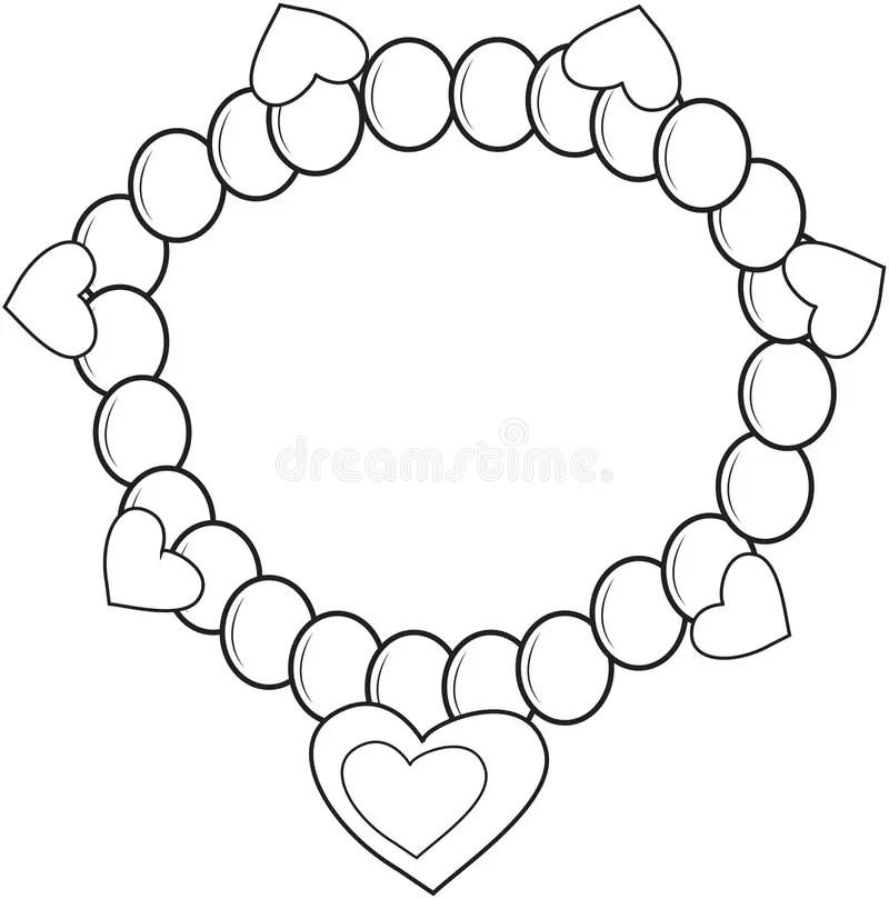 Bracelet coloring page stock illustration. Illustration of