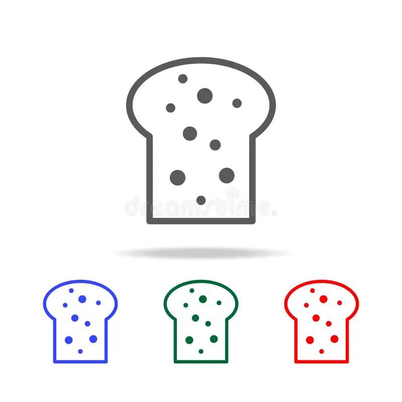 Bread Simple Black Eating Icon. Elements Of Food Multi