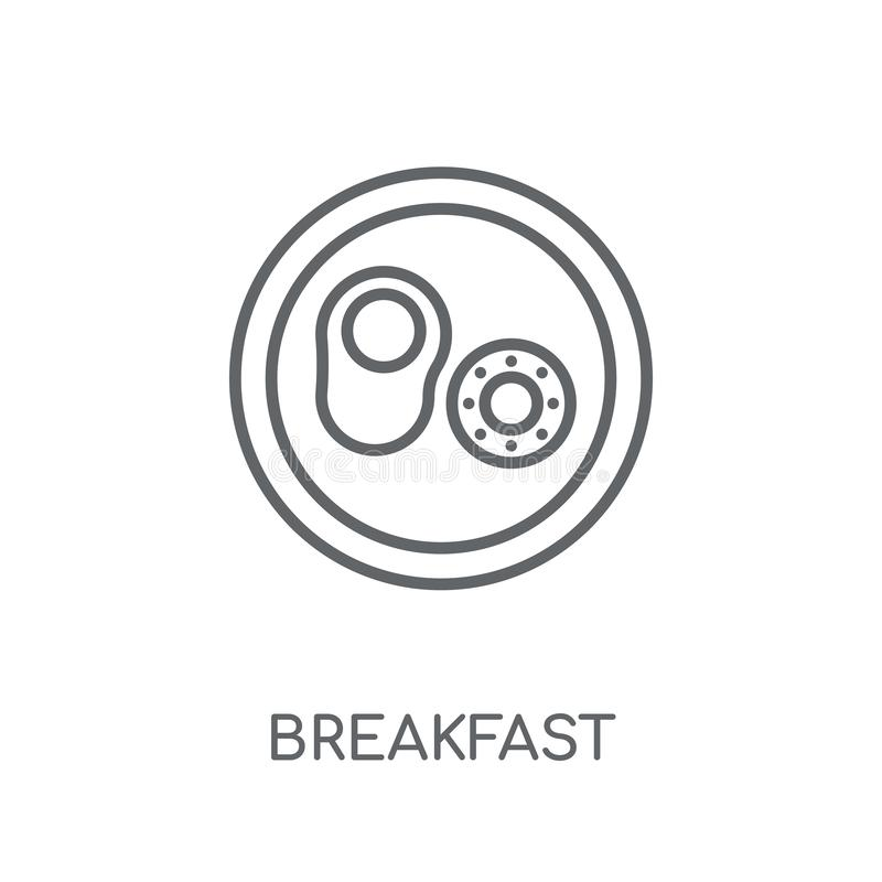 Linear Breakfast Icon From Accommodation Outline