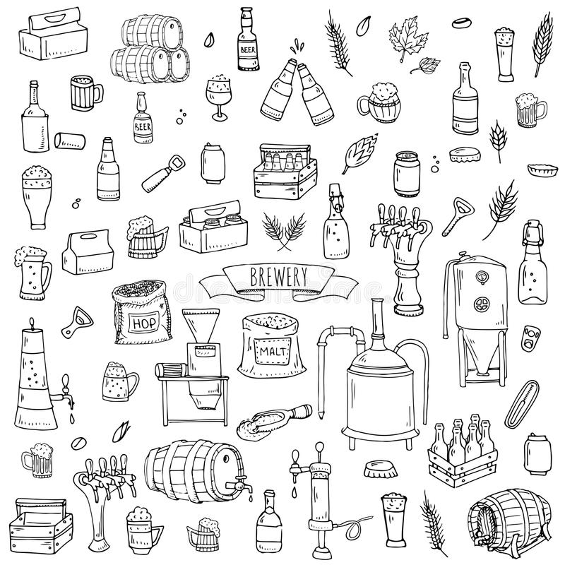 Brewery icons stock vector. Image of draft, decorative