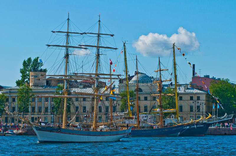 Brig Under Clouds Editorial Stock Photo Image Of Mainsail