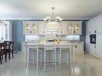 Bright Art Deco Kitchen Design Stock Illustration ...