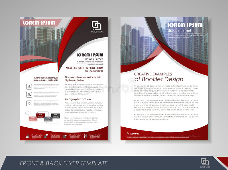 Brochures And Flyers Template Design Stock Vector Illustration Of