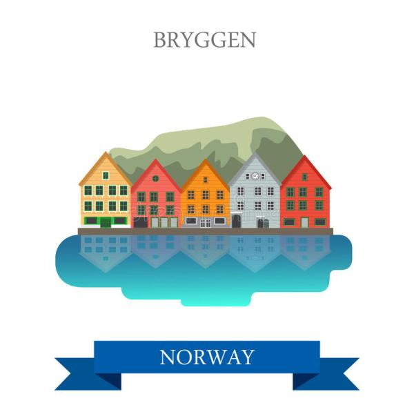 Bergen Norway Clip Art