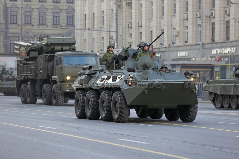 The BTR-82 Is An 8x8 Wheeled Amphibious Armoured Personnel Carrier (APC). Editorial Photography - Image of infantry. forces: 74599242