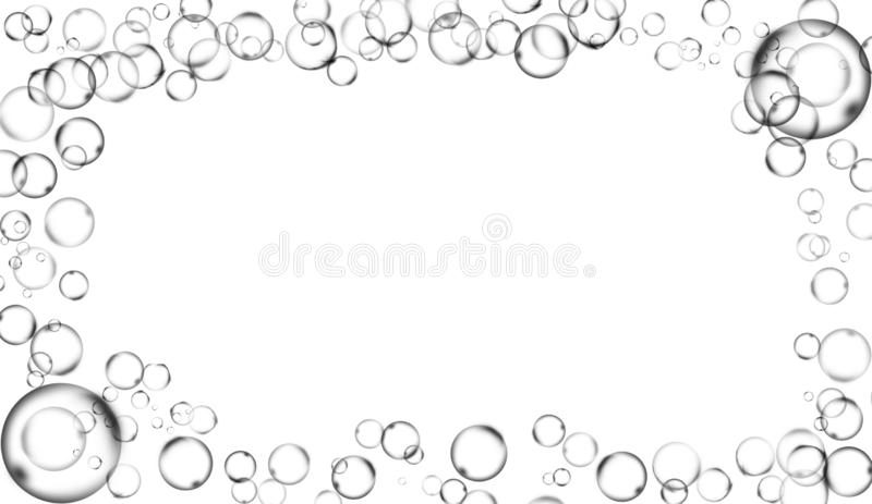 Border Water Bubbles . Abstract Frame From Banner,flyer