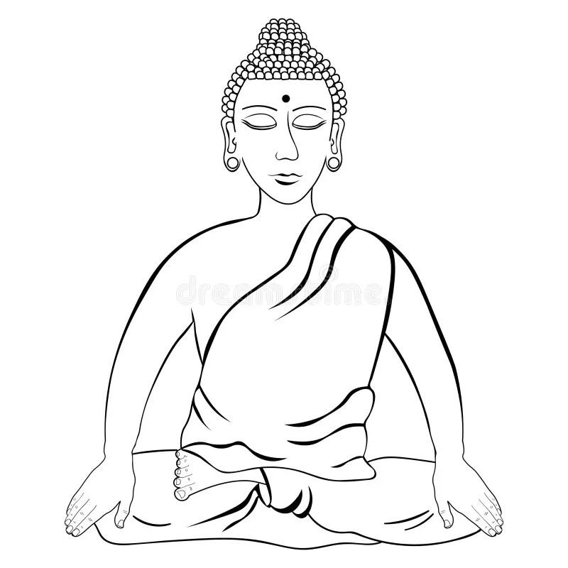 Eyes Buddha Stock Illustrations