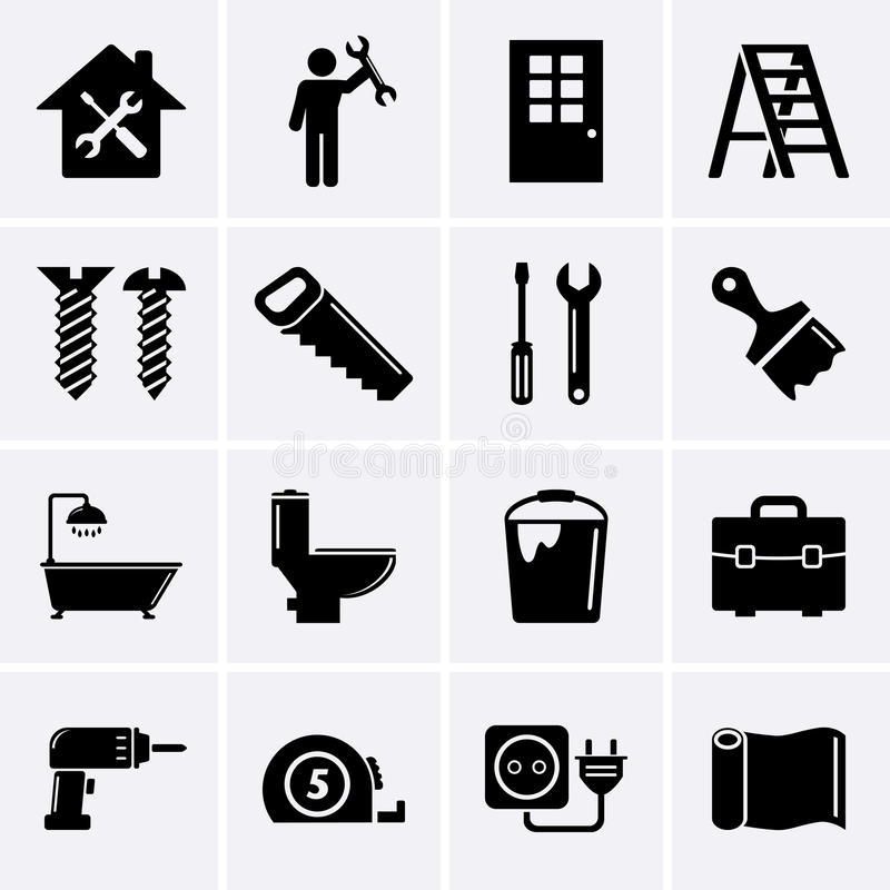 Building, Construction And Tools Icons Stock Vector