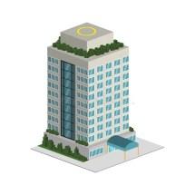 Building Icon. Hotel Design. Vector Graphic Stock