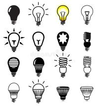 Bulb symbols stock vector. Illustration of alternative ...