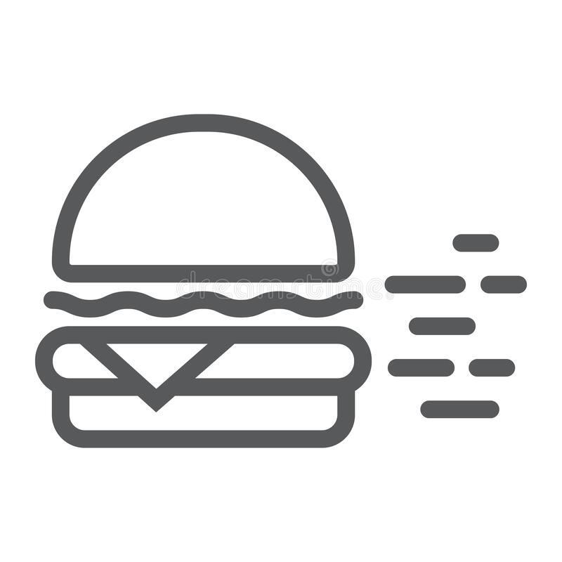 Burger Sign Icon In Transparent Style. Hamburger Vector