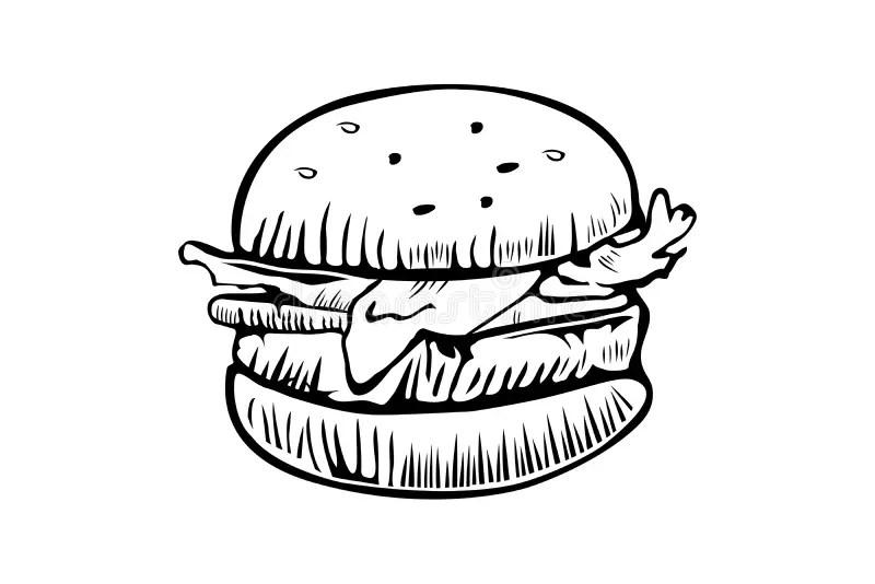 Hamburger icon stock vector. Illustration of background