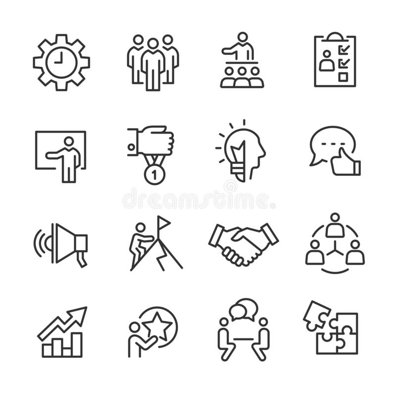 Set of business icons stock vector. Illustration of