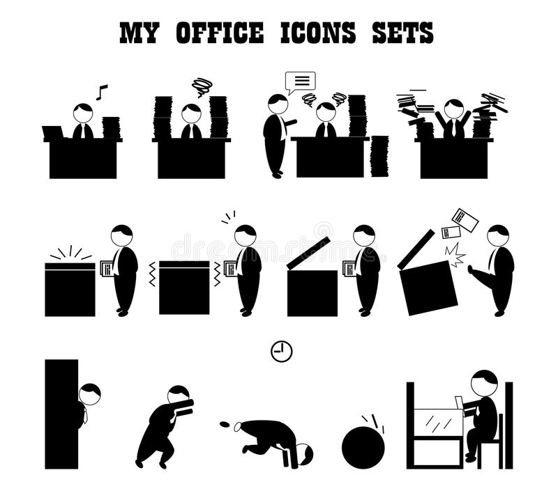 Business icons stock vector. Illustration of icon, office