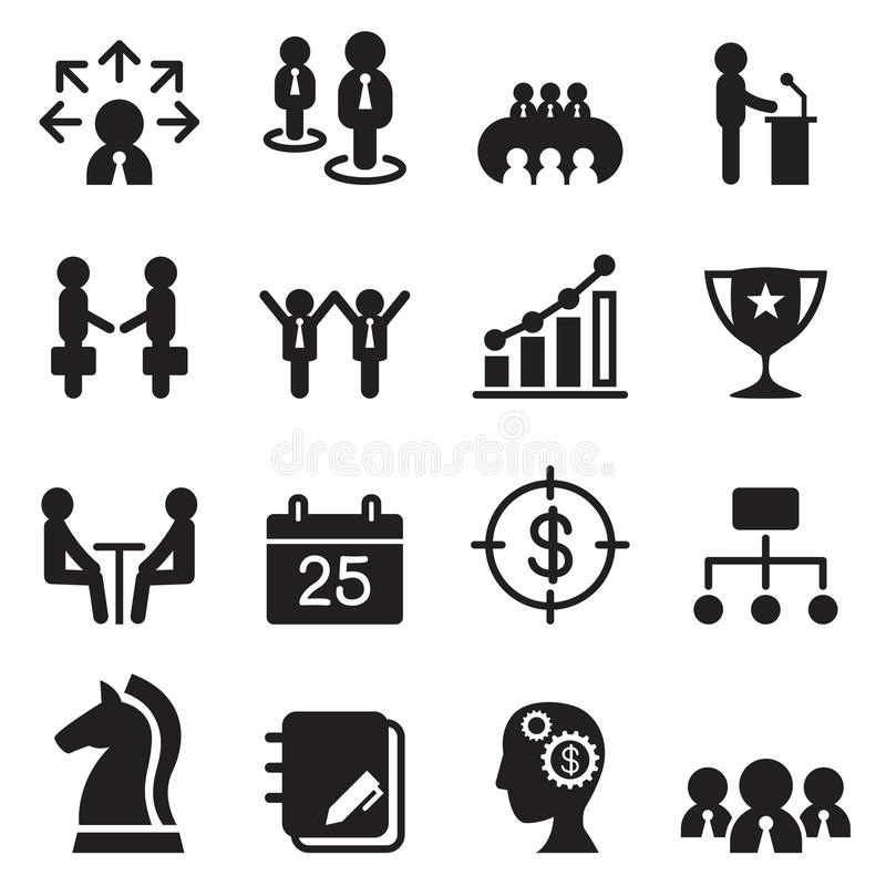 Abstract Icons Of Company Staff Or Employee Meeting