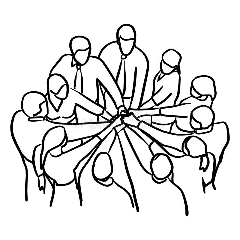 Collaboration People Join Hands Teamwork Stock Vector
