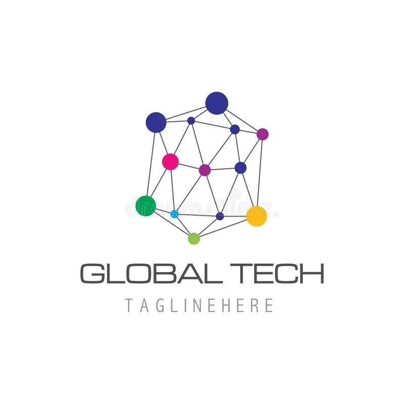 Business Technology Logo Template Stock Vector
