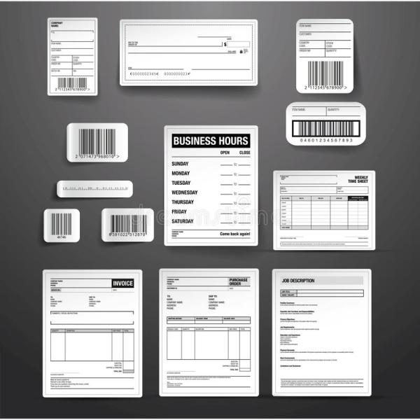 Business Template Vector Set Stock - 50865750