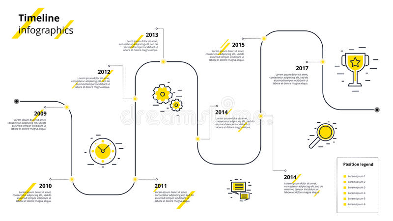 Business Infographics Template, Milestone Timeline Or Road
