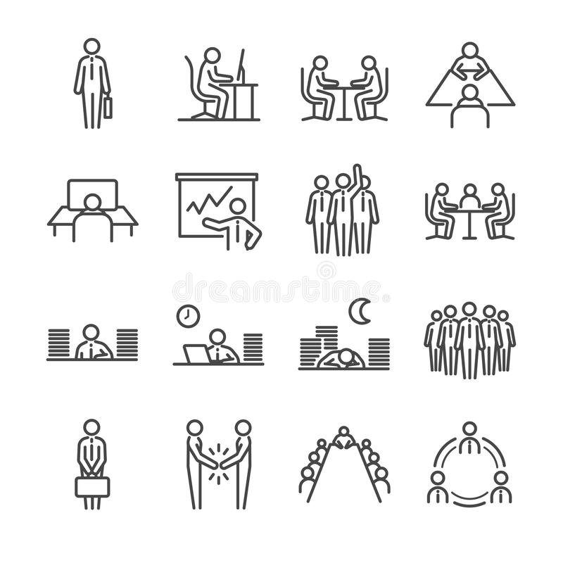 Teamwork Icon Set. Included The Icons As Company