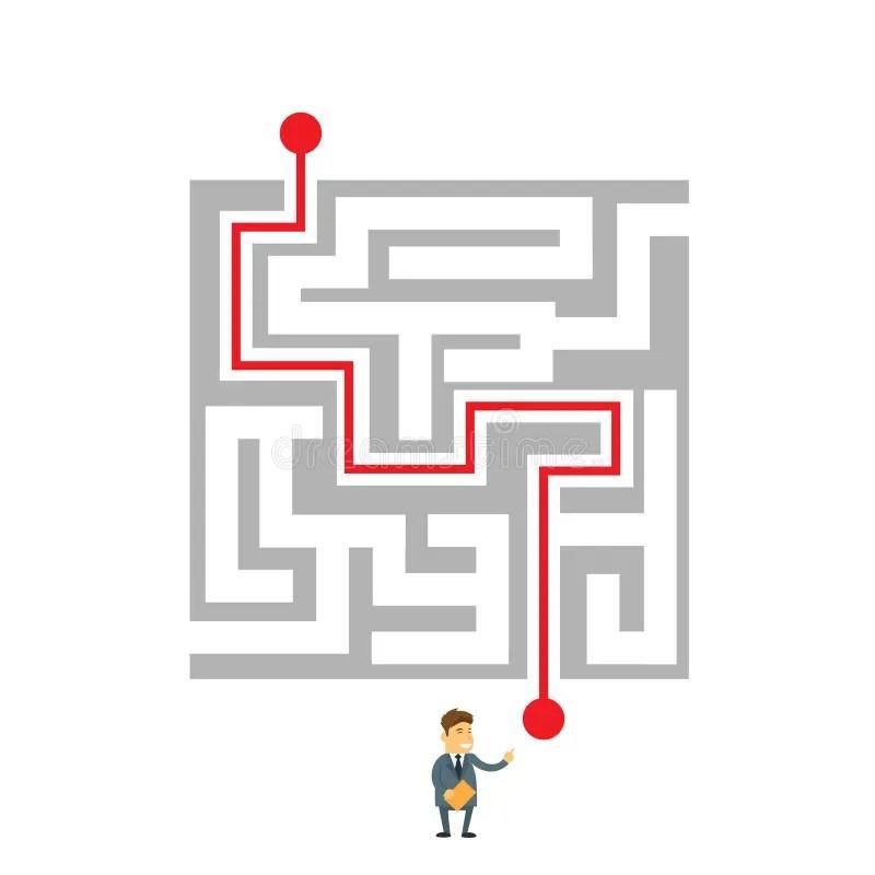 Confused Man Choosing Career Pathway. Stock Vector