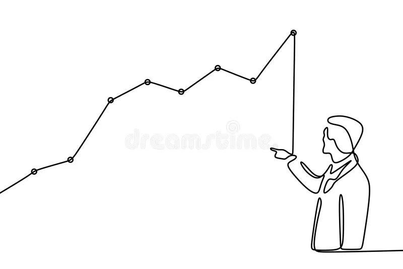 Business man drawing graph stock illustration
