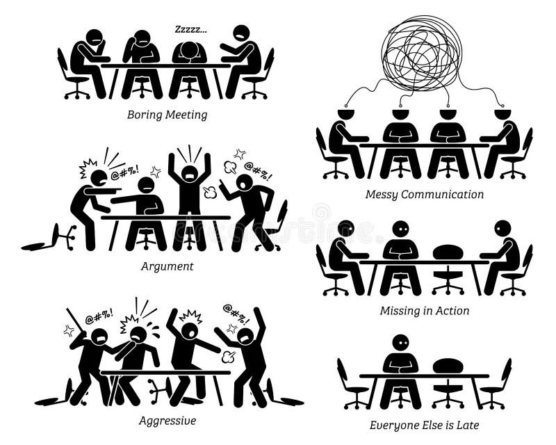 Boring Meeting stock illustration. Illustration of