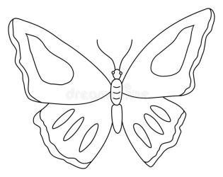 Outline Butterfly Clipart