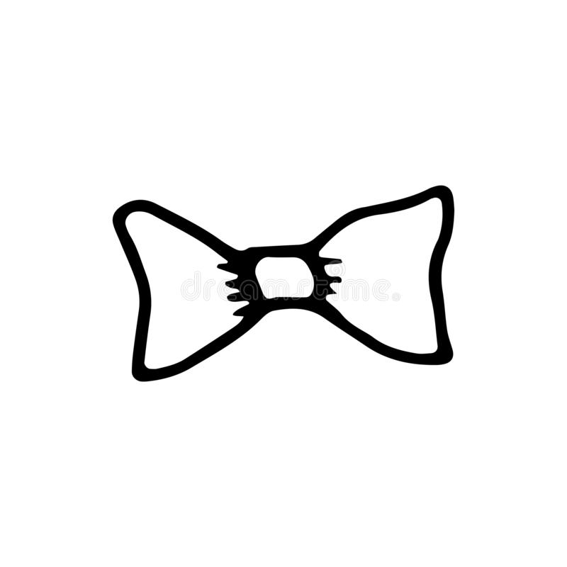 Necktie Icon Vector Sketch. Hand Insulated Drawing Stock