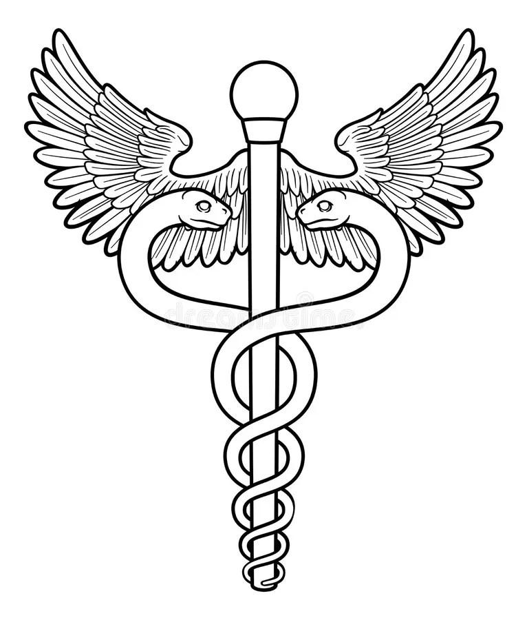 Caduceus Doctor S Medical Symbol Stock Vector