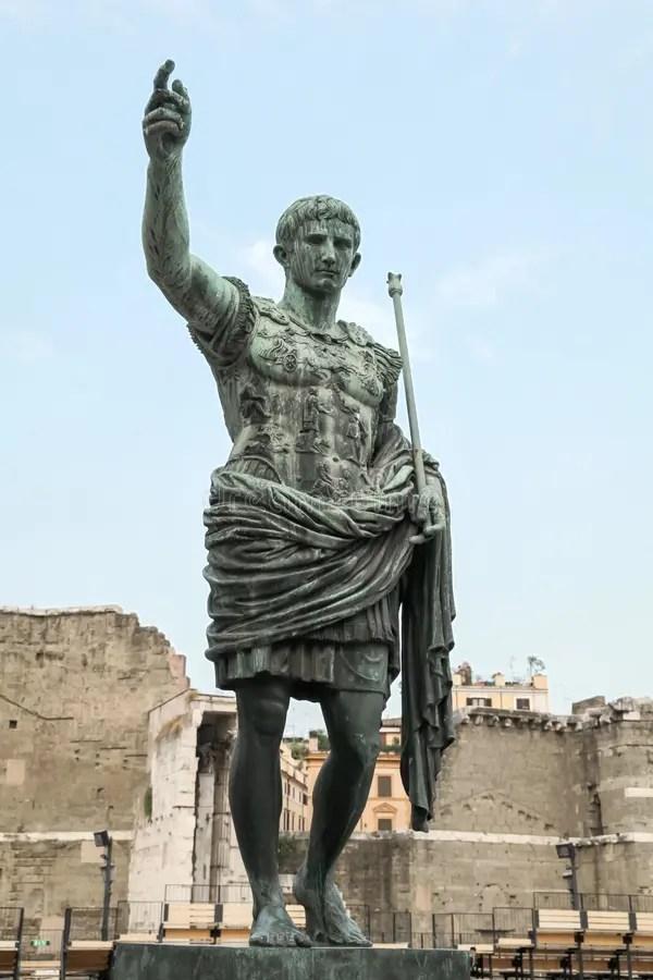 Caesar Augustus Ancient Statue Rome Italy Stock Image
