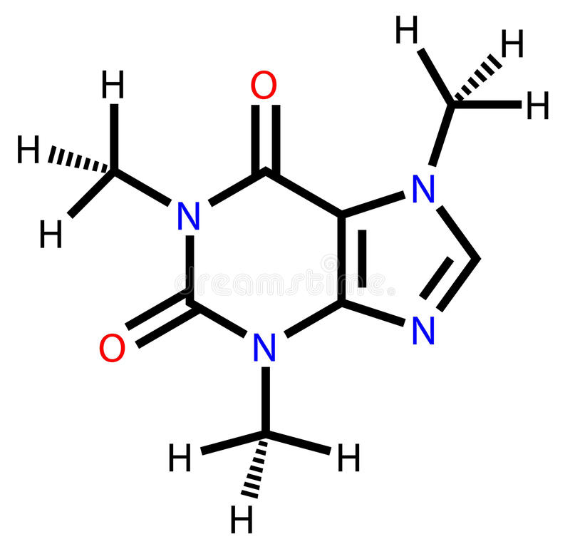 Caffeine Structural Formula Royalty Free Stock Images