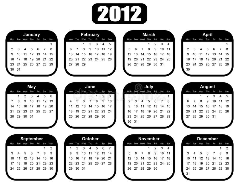 Yearly Attendance Calendar 2013