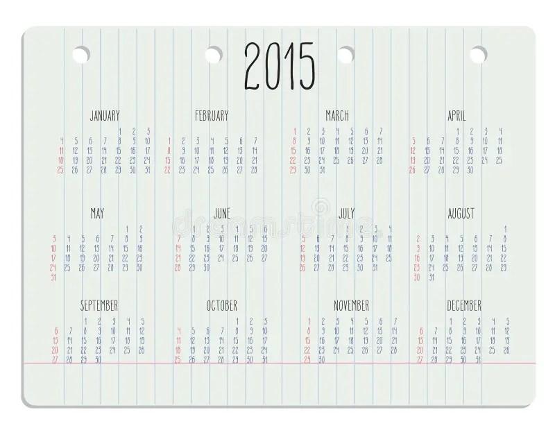 Calendar-2015-chalkboard stock vector. Illustration of