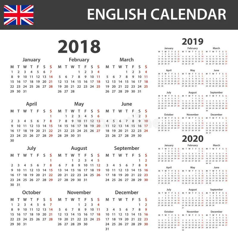 Modelli Calendario 2019.Calendario Per 2019 E 2020 Illustrazione Vettoriale Resume