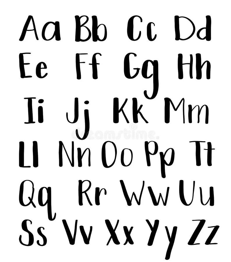 Calligraphy Hand-written Fonts. Handwritten Brush Style