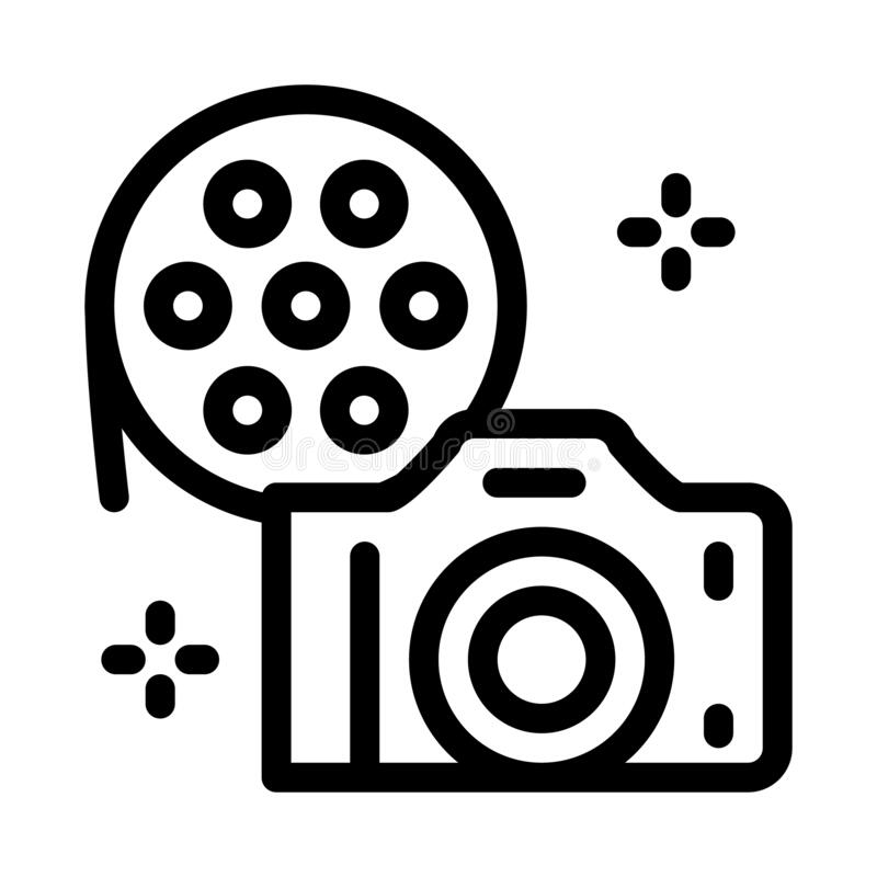 Film List Icon On White Background. Simple Element