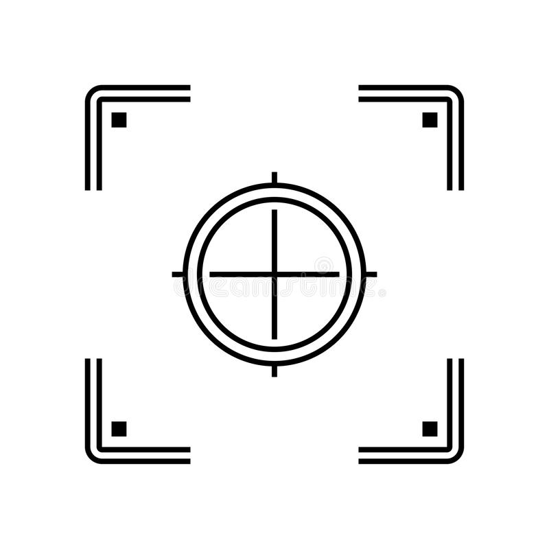 Camera focus icon stock vector. Illustration of bright