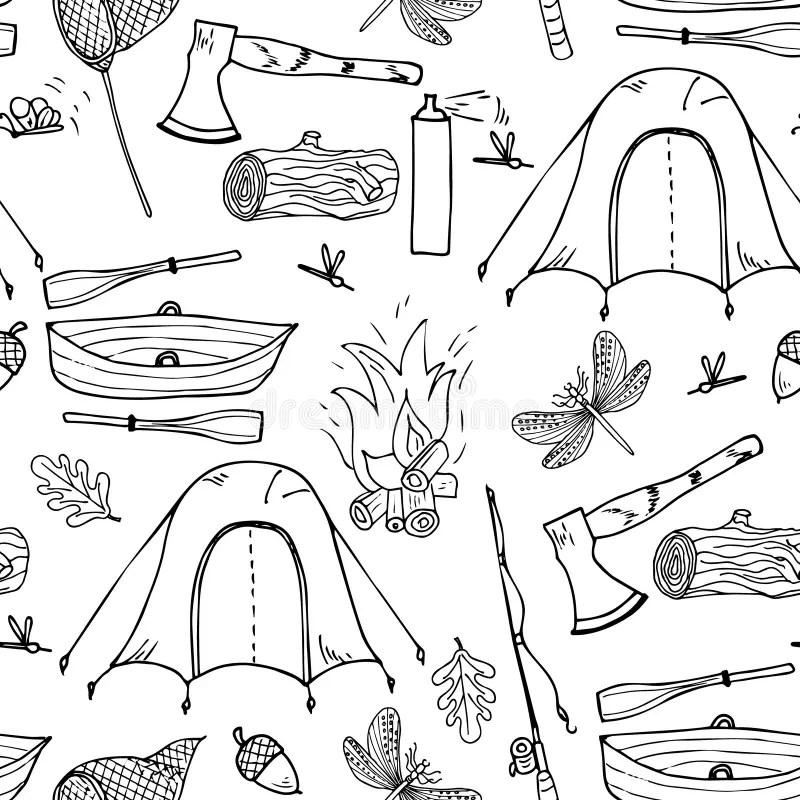 Fishing Pattern Stock Illustrations