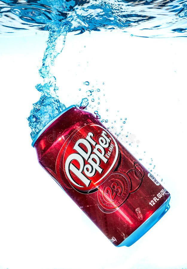 Can Of Dr Pepper Cherry Vanilla Soft Drink In Water ...