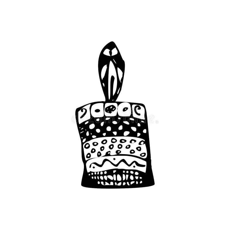 Zentangle Candle Stock Illustrations