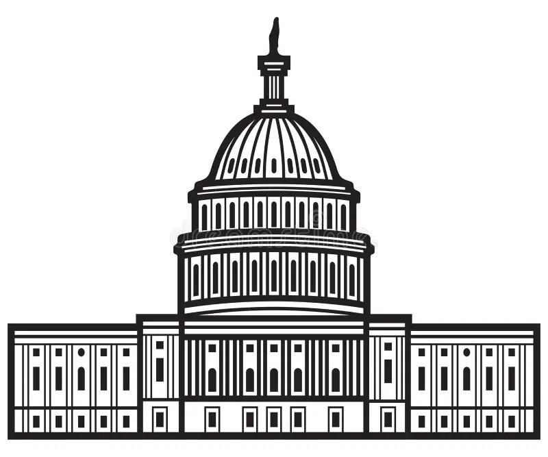 Capitol des Etats-Unis illustration de vecteur