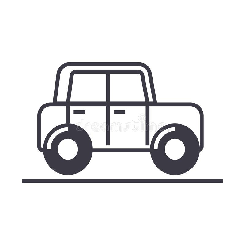 Car,auto,vehicle Vector Line Icon, Sign, Illustration On