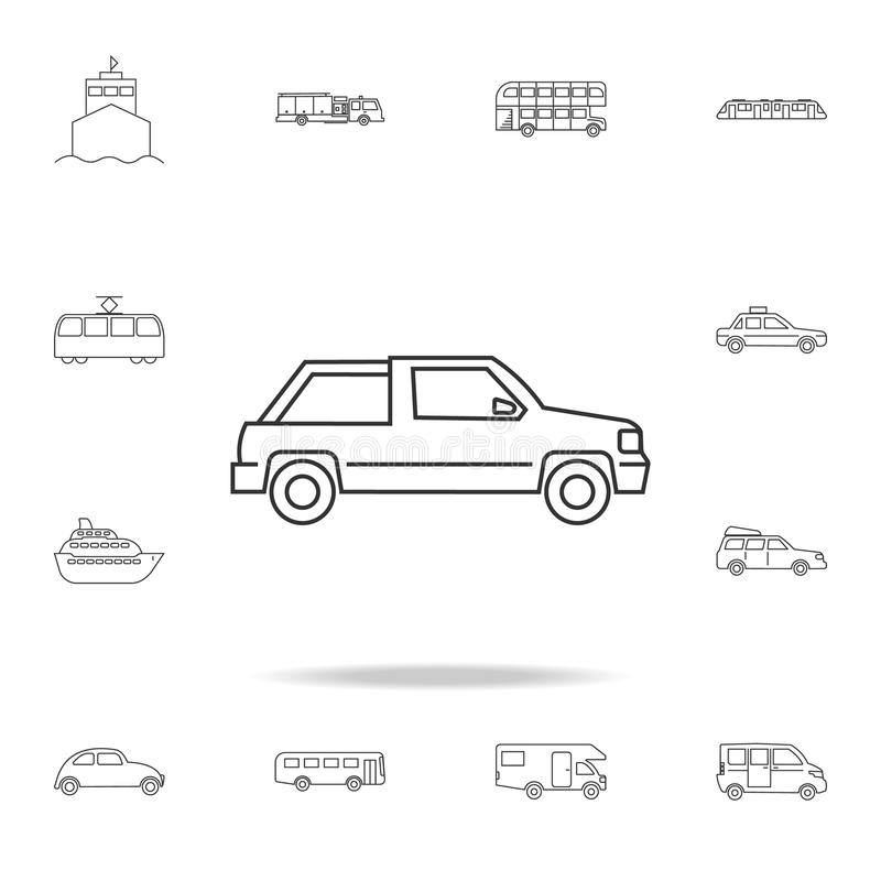 American mid-size car stock vector. Illustration of brutal