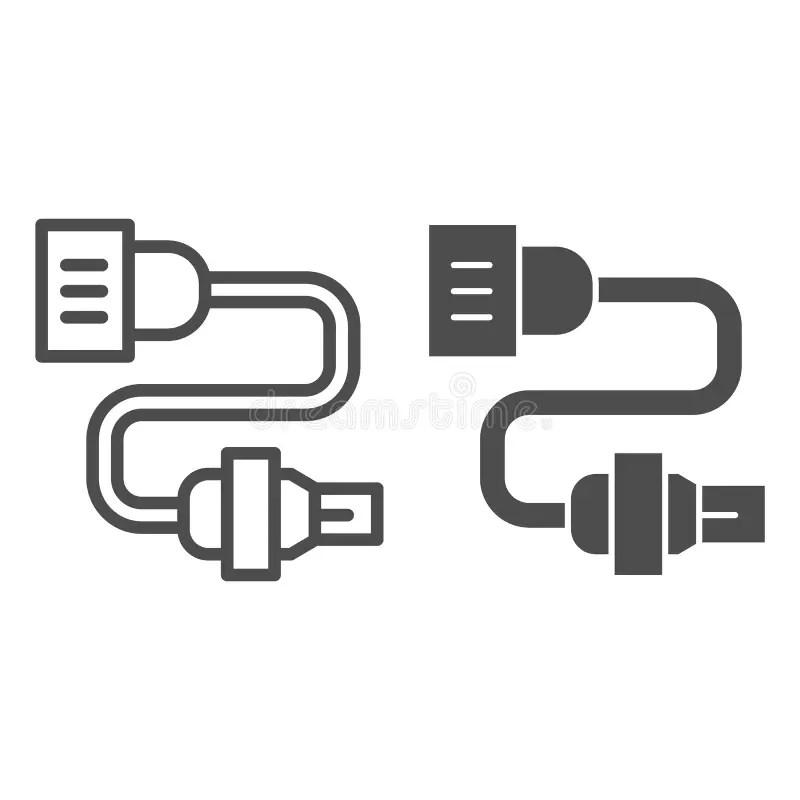 Electrical Plug Logo Vector Icon Illustration Stock Vector
