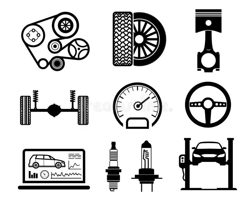 Car maintenance checklist stock illustration. Illustration
