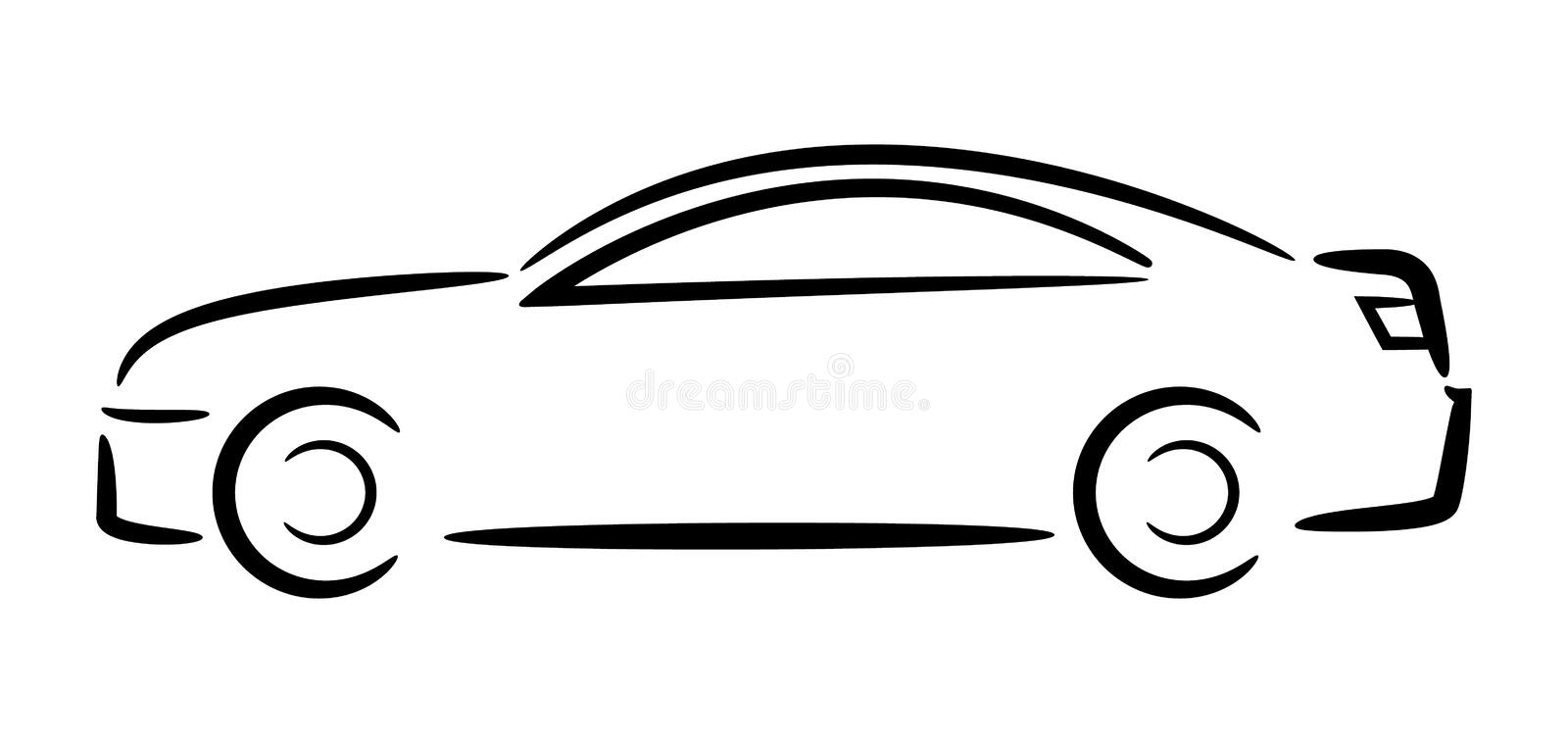 Car Outline. Vector Illustration. Stock Vector